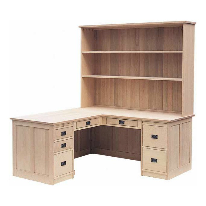 Mission desk with hutch amish mission desk with hutch uhuru furniture collectibles sold - Mission style computer desk with hutch ...