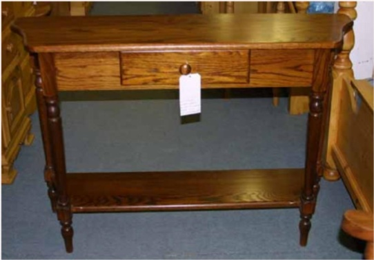 Hall Console Mennonite Furniture Ontario at Lloyd's Furniture Gallery in Schomberg