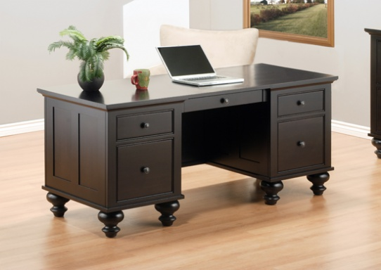 The Downing Street Executive Curio Desk: Lloyd's Mennonite Furniture
