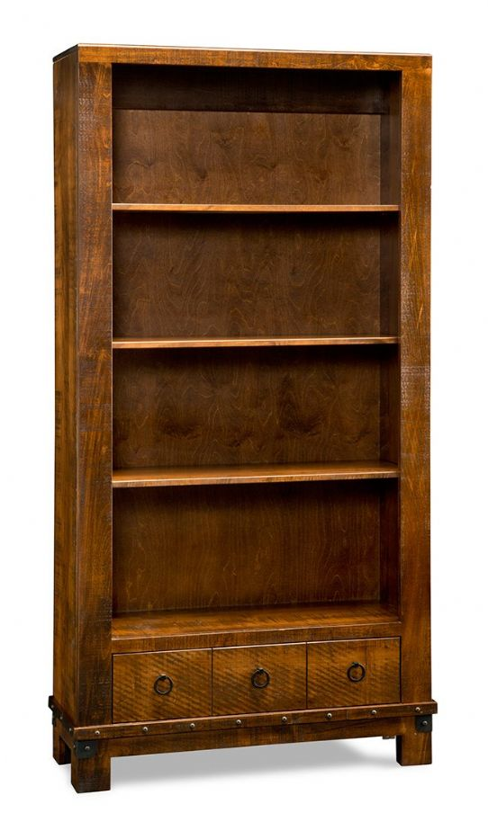 Barrelworks Bookcase Mennonite Furniture Ontario at Lloyd's Furniture Gallery in Schomberg